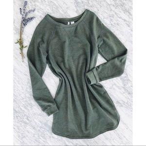 H&M Sweatshirt Sweater Dress Olive Khaki Green